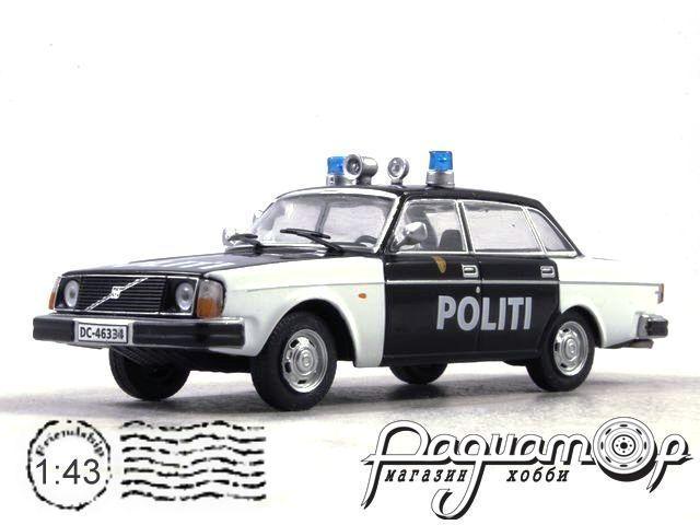 Полицейские Машины Мира №73, Volvo 244 Полиция Норвегии (2000) с журналом