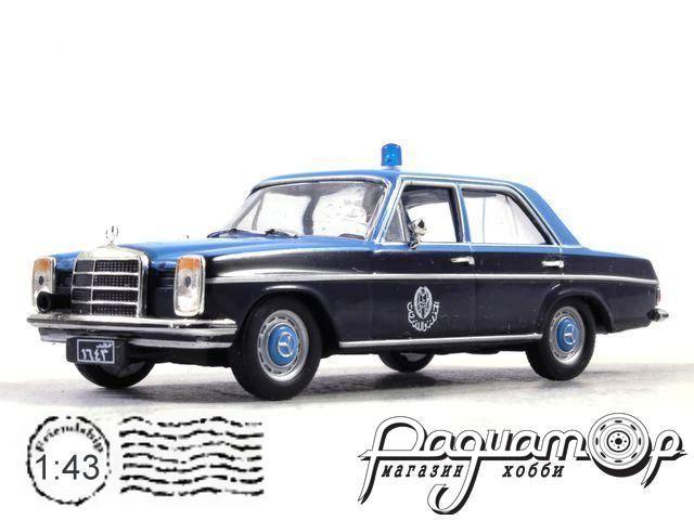 Полицейские Машины Мира №70, Mercedes-Benz W114 Полиция Катара (2000) с журналом