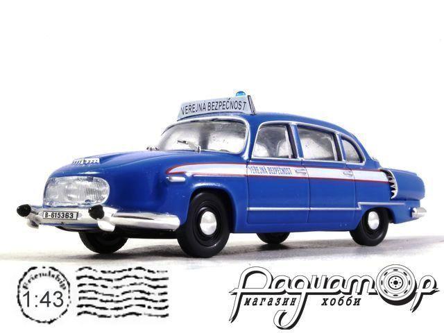 Tatra 603 Милиция Чехословакии (1956) с журналом Полицейские машины мира №57