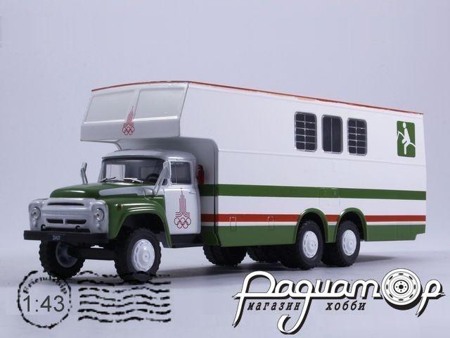КАвЗ-5982 (ЗиЛ-133Г1) перевозка лошадей (1978) с журналом Автомобиль на службе №78
