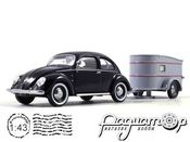 Volkswagen 1200 (Brezelkafer) with Westfalia trailer (1950) 450389100 (PL)