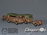 Mercedes-Benz L1500A tent, l-d glass + 2cm Flak-Vierling 38 (1941) V6-00.6+01.6