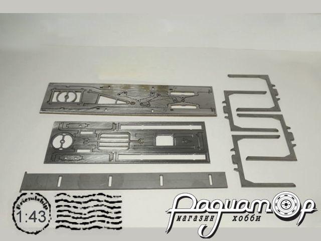 Сборная модель Прицеп МАЗ-837810-020 сортиментовоз (1990) MM2012-2