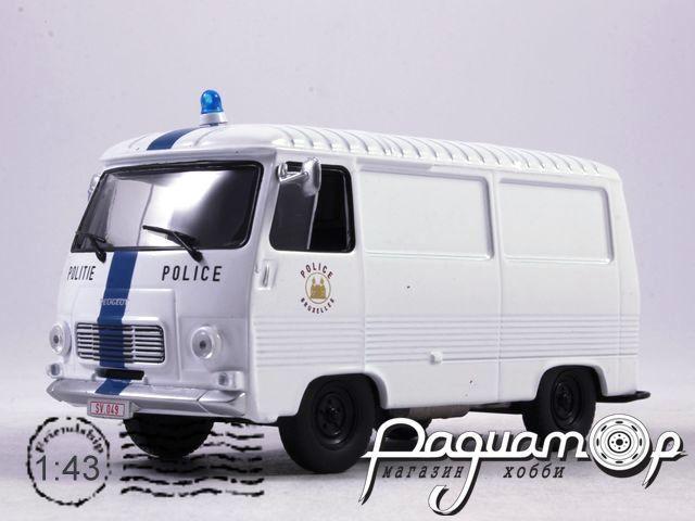 Полицейские машины мира №66, Peugeot J7 Полиция Брюсселя, Бельгия (1965)