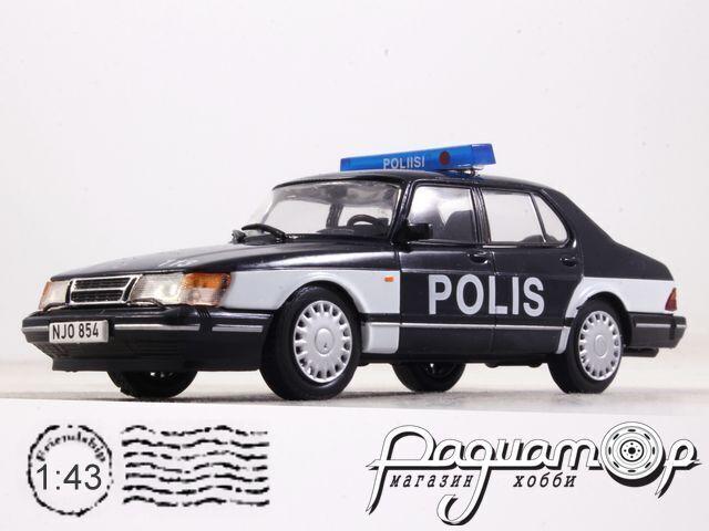 Полицейские машины мира №72, Saab 900 turbo Полиция Финляндии (1978)