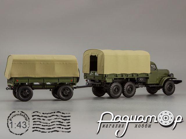 Прицеп 2-ПН-2 (военные номера) (с дугами и тентом) 600203
