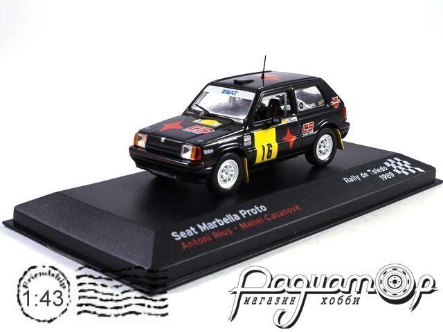 Seat Marbella Proto №16, Antini Rius - Manel Casanova, Rally de Toledo (1989) (I)