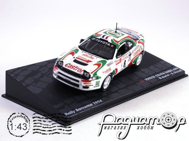 Toyota Celica Turbo 4WD №8, D.Auriol - B.Occelli, Rally Sanremo (1994)