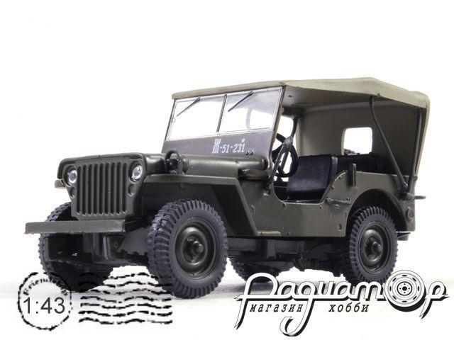 Автолегенды СССР и Соцстран №186, Jeep Willys MB (Ford GPW) (1958)