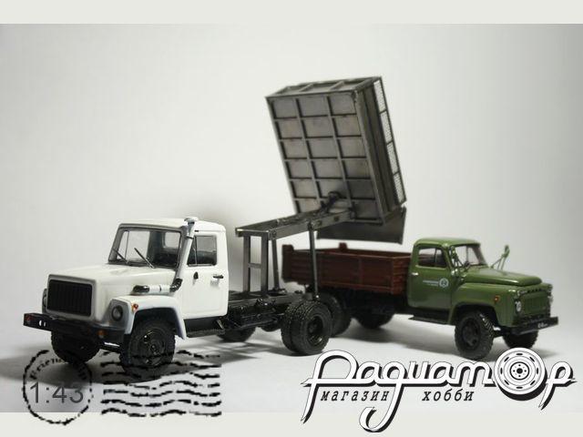 Сборная модель Автосамосвал ГАЗ-САЗ 2504 для ГАЗ-3307/3309 MM2025