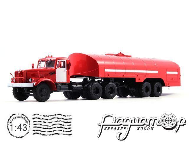 КрАЗ-258Б1 с полуприцепом-цистерной ТЗ-22, пожарный (1967) 101456