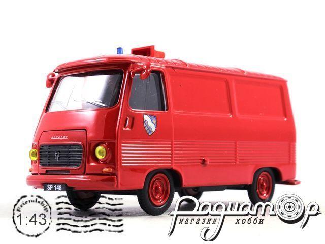 Peugeot J7 Essonne Sapeur с прицепом (1965) 101050