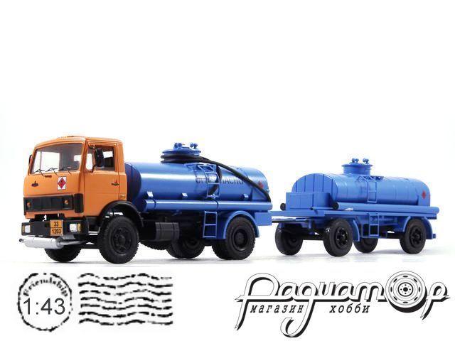 МАЗ-5337 АЦ-70 с прицеп-цистерной ПЦ-6,7-8925 (1985) NIK030-032