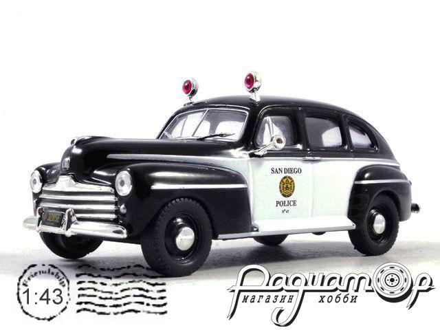 Полицейские машины мира №50, Ford Fordor Полиция Сан-Диего, США (1947)