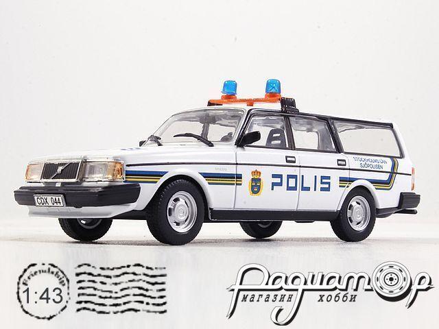 Полицейские машины мира №56, Volvo 240 Полиция Стокгольма, Швеция (1980)