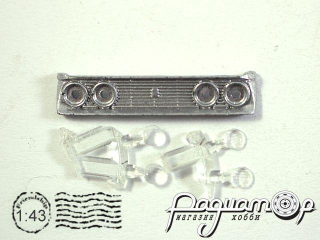 Набор Решетка радиатора Москвич-408 Элит (серебристая) + 4 фары (I)