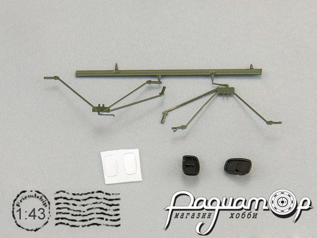 Набор зеркал (т.зелёный/черный) для моделей ГАЗ-52 (арт. 905202) 500509