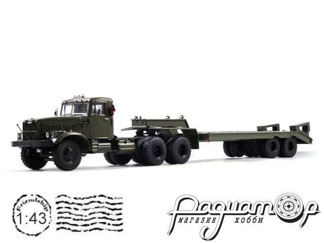 КрАЗ-258Б1 с полуприцепом-тяжеловозом ЧМЗАП-5523 (1975) SSM7028
