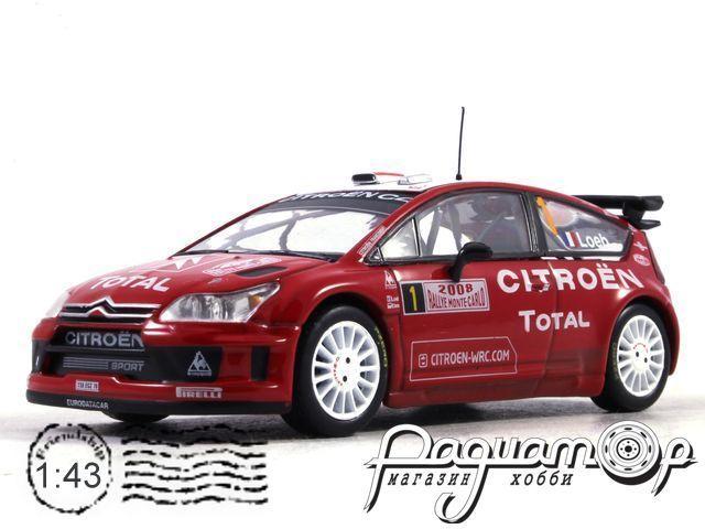 Citroen C4 WRC №1 Sebastien Loeb-Daniel Elena, Rallye Monte-Carlo (2008) AR01