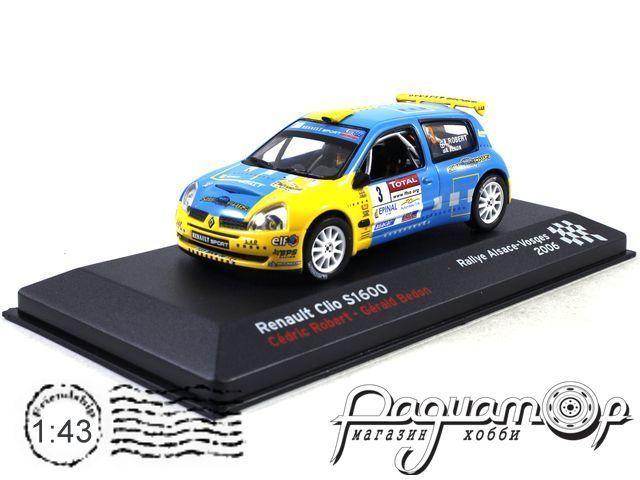 Renault Clio S1600 №3 Robert Cedric Bedon Gerald, Rallye Alsace Vosges (2006) AR12
