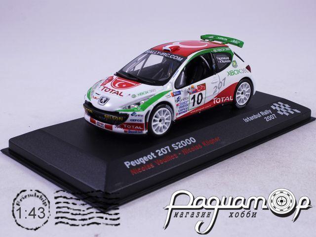 Peugeot 207 S2000 №10 Nicolas Vouilloz-Nicolas Klinger, Istanbul Rally (2007)AR13