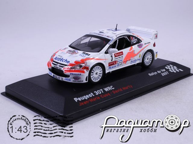 Peugeot 307 WRC №3 Cuoq Jean-Marie-Marty David, Rallye du Var (2007)AR19