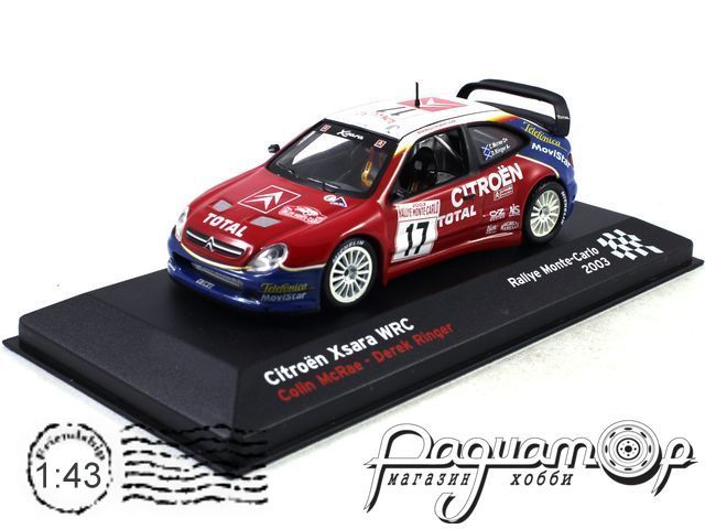 Citroen Xsara WRC №17 C.McRae, Rallye Monte Carlo (2003) AR38