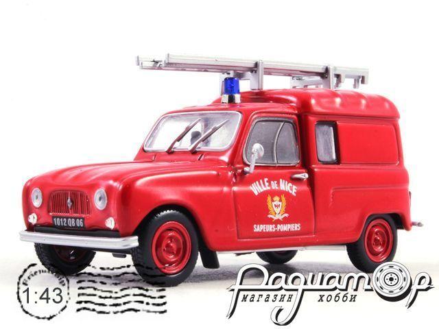 Renault 4 Fourgonnette Sapeurs Pompiers Nice (1965) Altaya (PL)