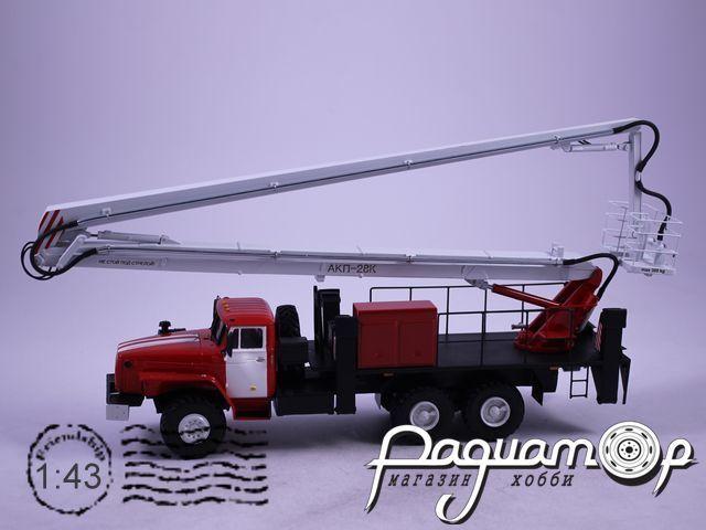 Урал-4320 ВС-28У Автовышка пожарная (1990) NIK087-R