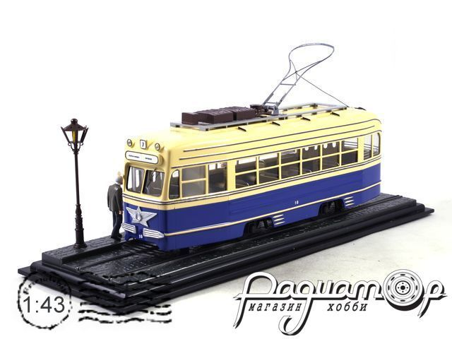 Диорама Трамвай КТМ-1 (1947) с фигурками