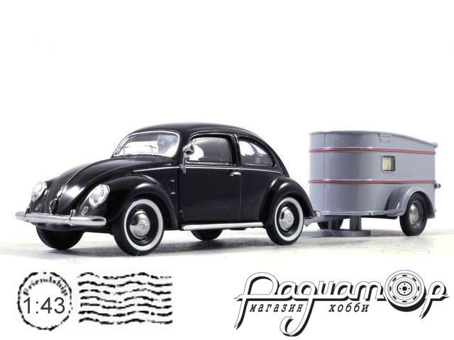 Volkswagen 1200 (Brezelkafer) with Westfalia trailer (1950) 450389100