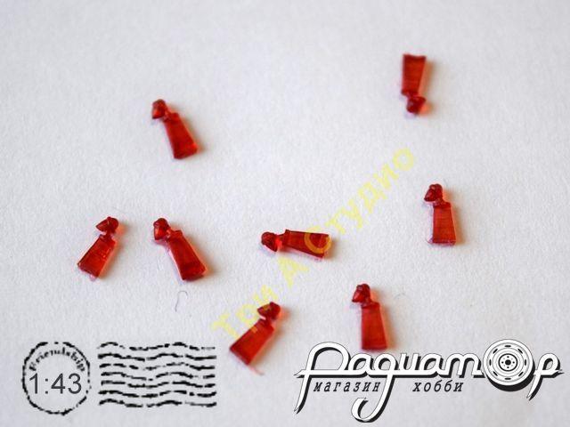 Фонарь ПФ-10-П, красный (1шт) A043-R
