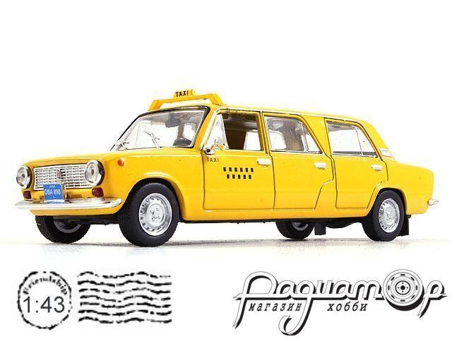 Автолегенды СССР и Соцстран №201, VAZ-2101 Lada Limusina, Taxi (1970)