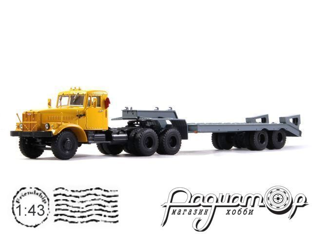 КрАЗ-258Б1 с полуприцепом-тяжеловозом ЧМЗАП-5523 (1975) 101470