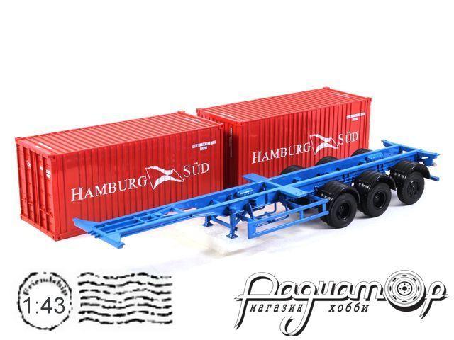 Полуприцеп-контейнеровоз МАЗ-938920 с контейнерами