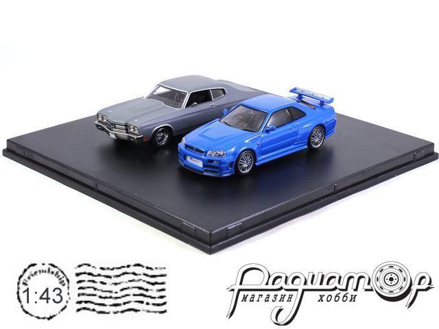 Набор Chevrolet Chevelle SS and Nissan Skyline GT-R из к/ф