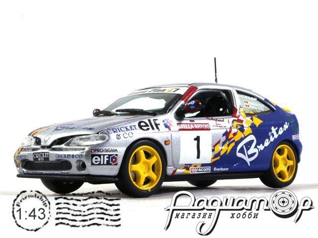 Renaullt Megane Coupe №1 24 hourse SPA, Vanina Ickx - Jacky Ickx (1998) XCL99014 (L)