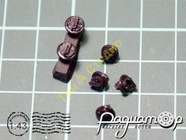 Фара с закрытой светомаскировкой. Диаметр 5,4мм (1шт) A058