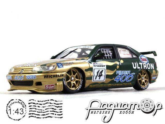 Peugeot 406 №14 Esco Ultron Team Peugeot - BTCC, Patrick Watts (1997) XT049 (L)