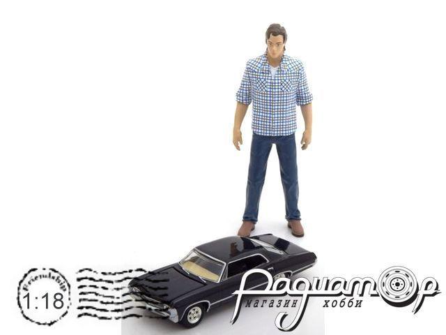 Набор Фигурка Сэма Винчестера с моделью Chevrolet Impala 1/64 из т/с