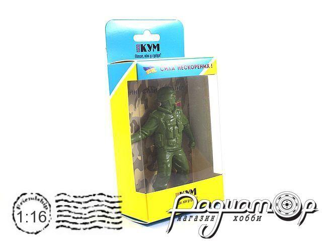 Фигура воина ВСУ №2 Солдат с гранатой (D)