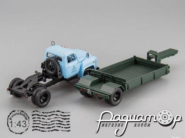 ГАЗ-52-06 с прицепом для перевозки сыпучих грузов, г.Черкесск (1985) 105250+621304