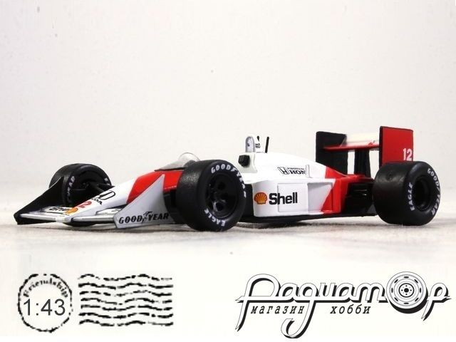 Formula 1 Auto Collection №1, McLaren MP 4/4, Айртон Сенна (1988)