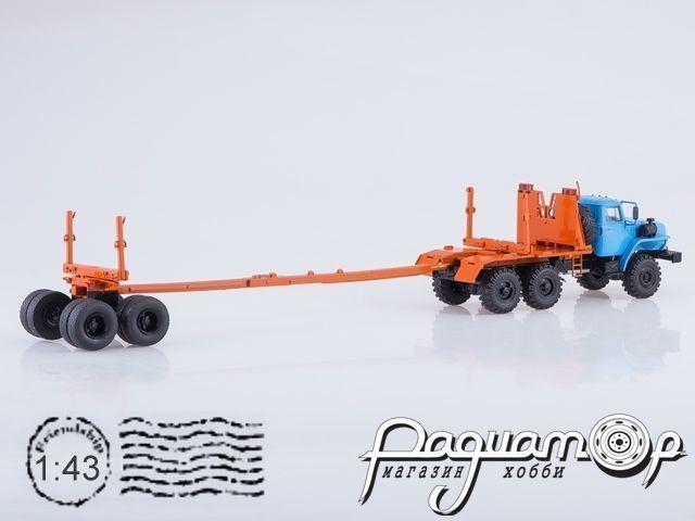 Урал-43204-41 лесовоз с прицепом-роспуском (1980) SSM1226