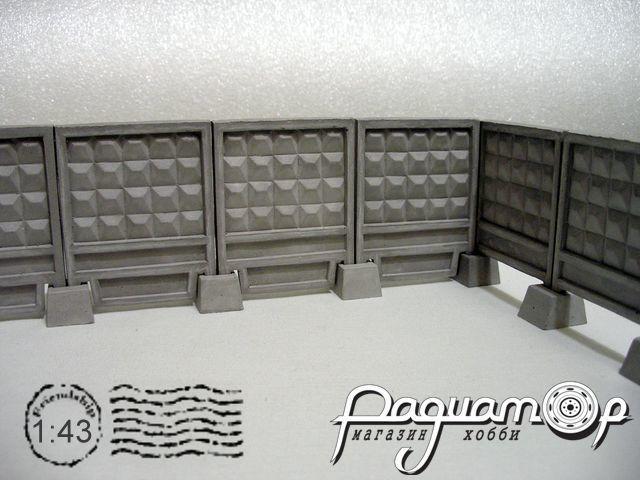 Плита забора ПО-2Ф (с фартуком) (70х58х3,5мм) HW01102