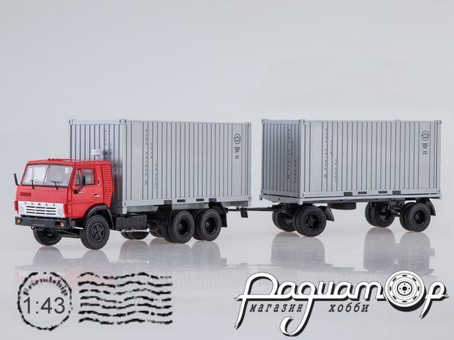КАМАЗ-53212 контейнеровоз с прицепом ГКБ-8350 (1979) SSM7030