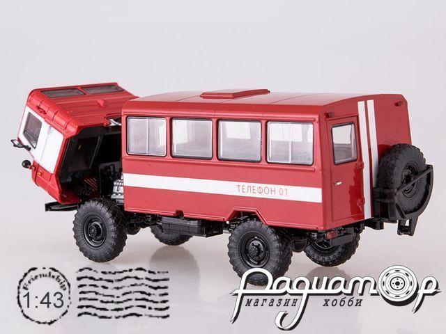 ГАЗ-66 Вахтовый автобус, пожарная служба (1964) SSM1198