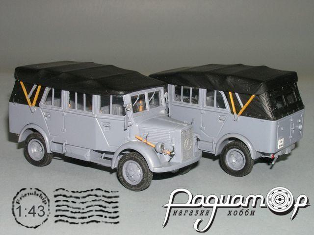 Mercedes-Benz L1500A Mannschaftswagen, tent, Wehrmacht (1941) P6-42.1