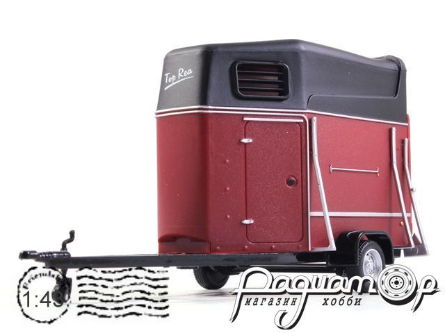 Horse trailer with horse 481-012