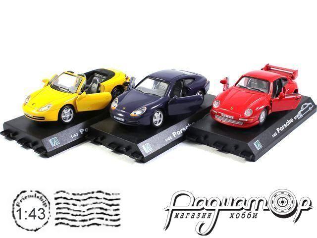 Набор Porshe 911 Coupe + Porshe 911 Convertible + Porshe 911 GT 2 (B)